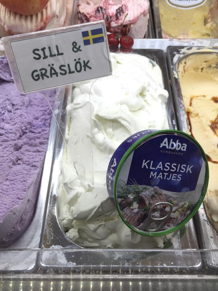 Får det lova att vara glass med sill och gräslök?