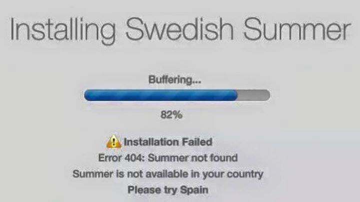 Jag försöker installera sommaren!