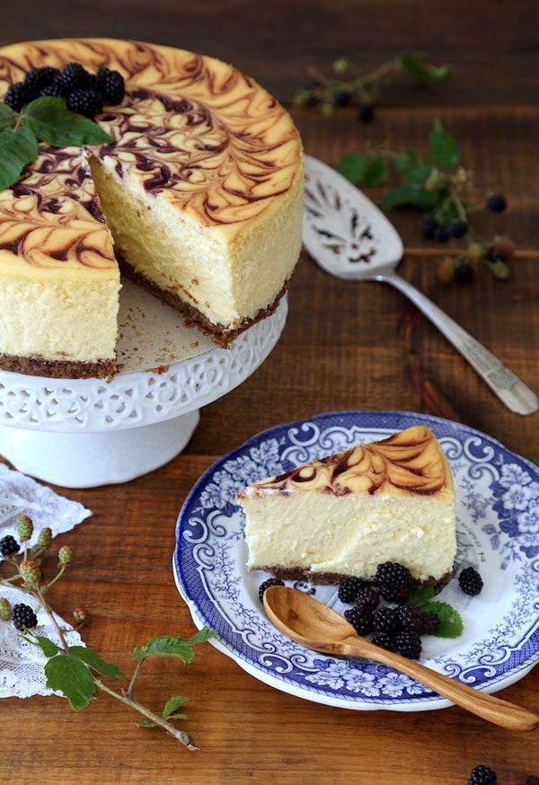 Björnbärscheesecake med Aube Giroux