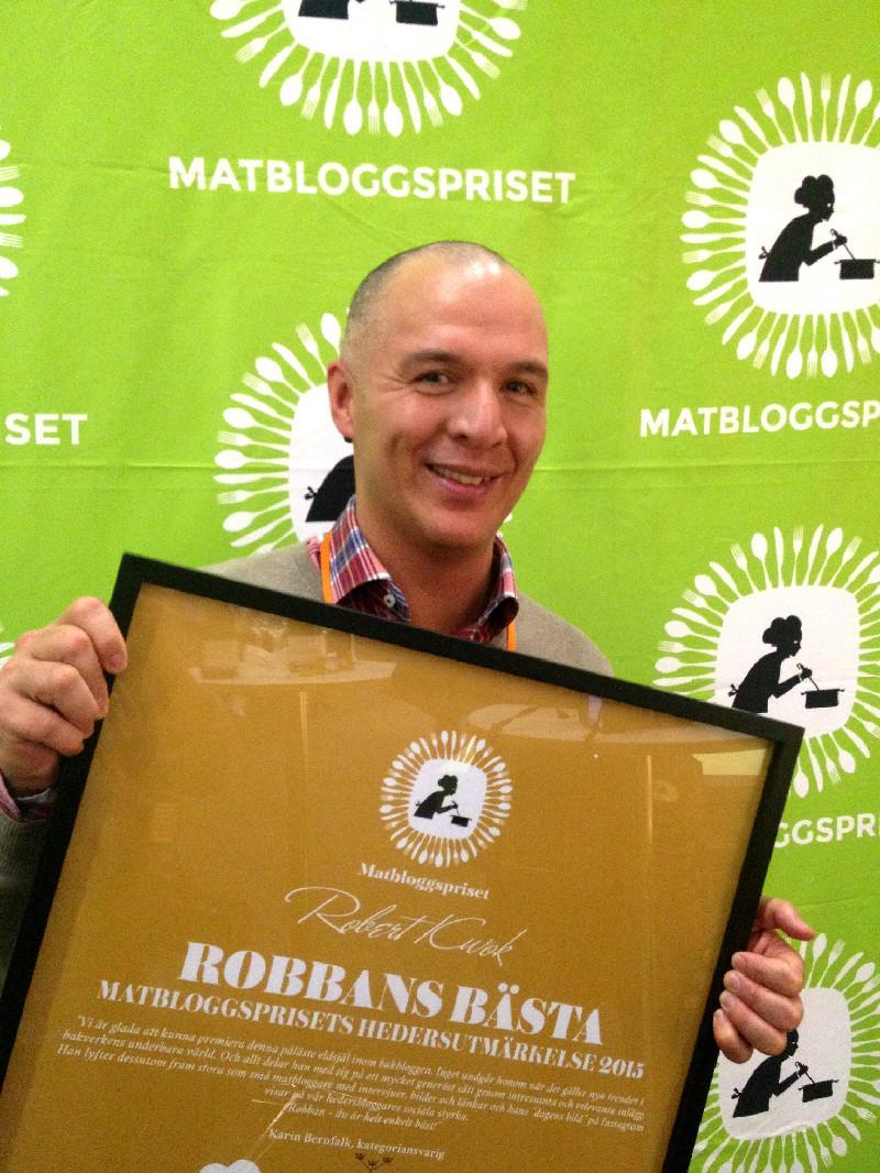 Robbans bästa är vinnare av Matbloggsprisets Hedersutmärkelse