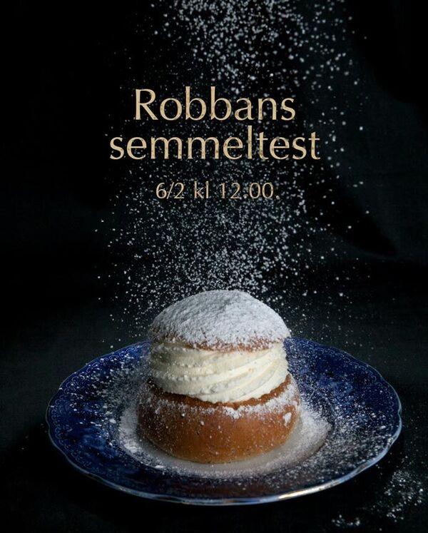 Robbans semmeltest 6/2 kl 12.00