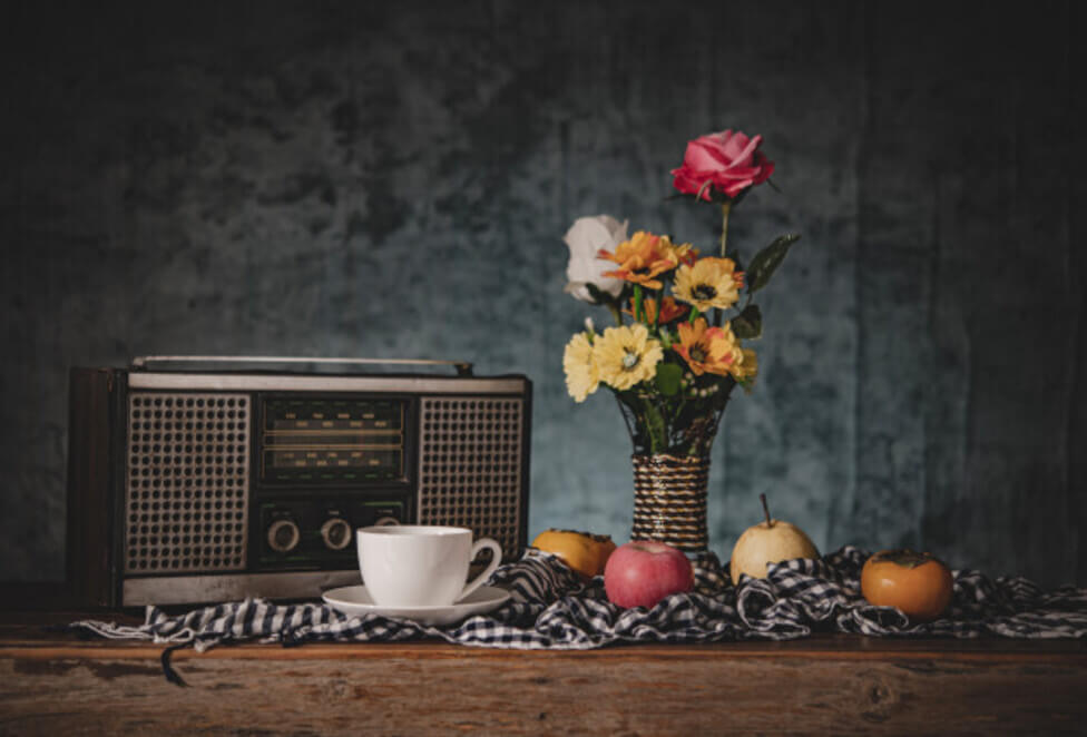 Blommor, kaffe och te